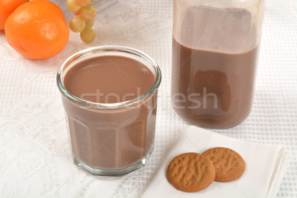 Chocolate milk and cookies Stock photo © MSPhotographic