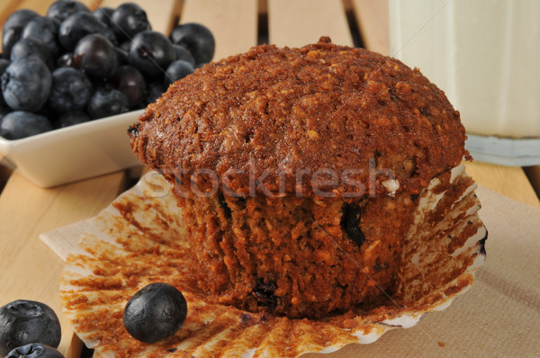 Healthy flax seed and bran muffin  Stock photo © MSPhotographic