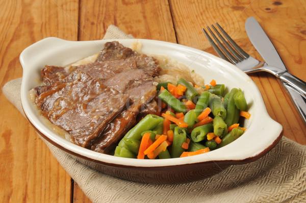 Sığır eti patates et sebze öğle yemeği Stok fotoğraf © MSPhotographic