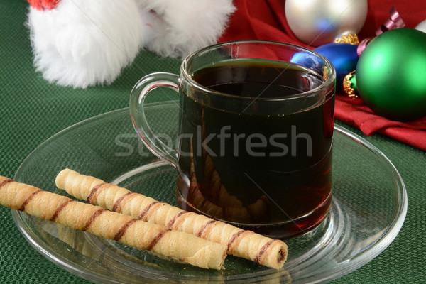 Chocolate filled rolled wafers Stock photo © MSPhotographic