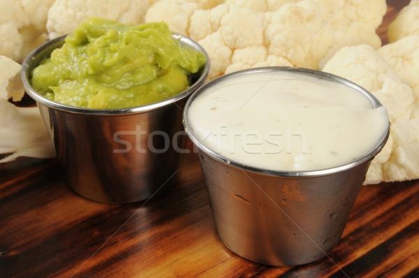 Ranch dip, guacamole and cauliflower Stock photo © MSPhotographic