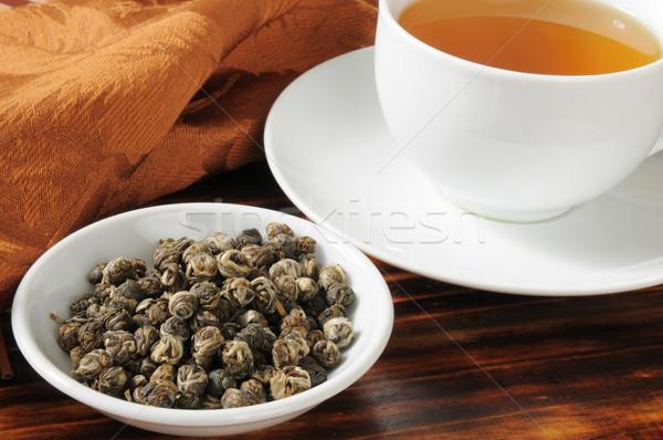 Hot Jasmine Tea Stock photo © MSPhotographic