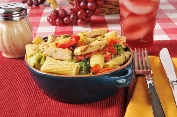 Chicken and broccoli on rigatoni Stock photo © MSPhotographic