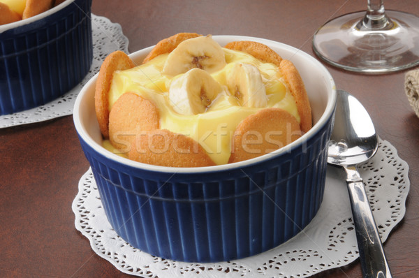 Vanilla pudding with bananas Stock photo © MSPhotographic