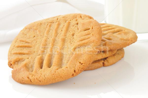 Burro di arachidi cookies fresche alto chiave Foto d'archivio © MSPhotographic