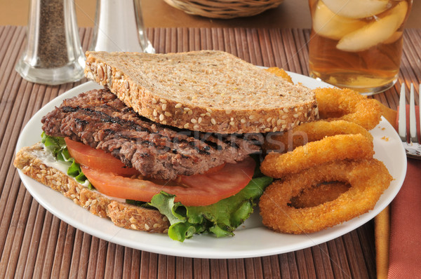 Steak sandwich Stock photo © MSPhotographic