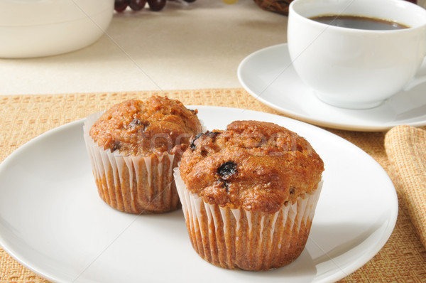 Bran muffins and coffee Stock photo © MSPhotographic