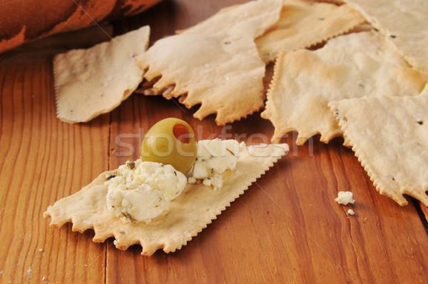 フェタチーズ 緑 オリーブ 地中海 ストックフォト © MSPhotographic