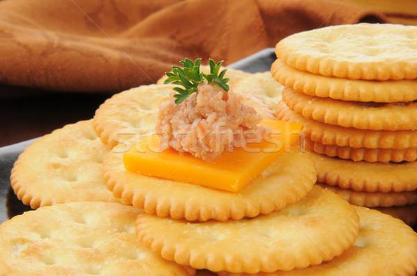 Stok fotoğraf: Jambon · peynir · çedar · buğday · salata · günlük