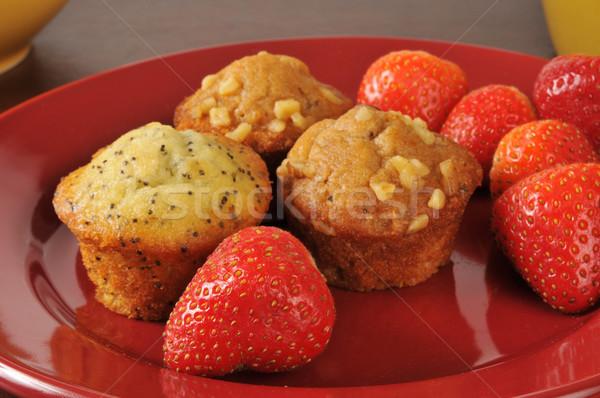 Muffins and strawberries Stock photo © MSPhotographic