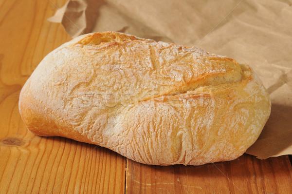 Chleba bochenek brązowy papier pakowy żywności Zdjęcia stock © MSPhotographic