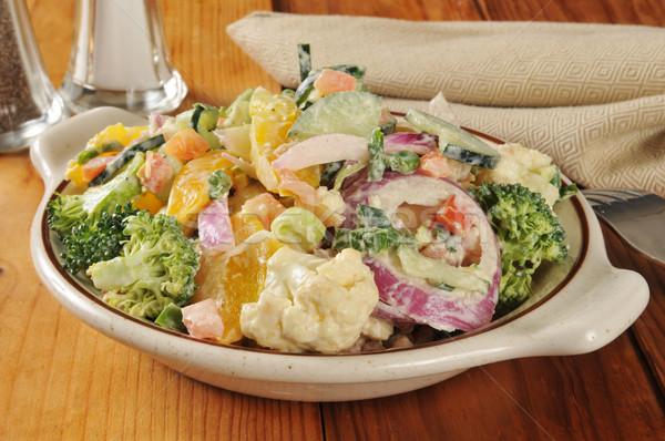Veggie Caesar Salad Stock photo © MSPhotographic