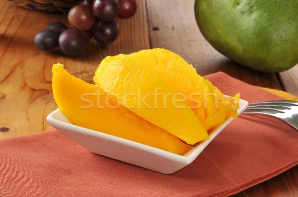 Sliced mango Stock photo © MSPhotographic