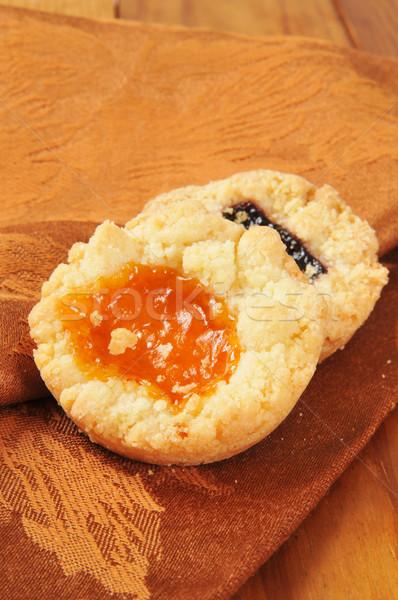 Stock photo: Shortbread cookies iwth jam