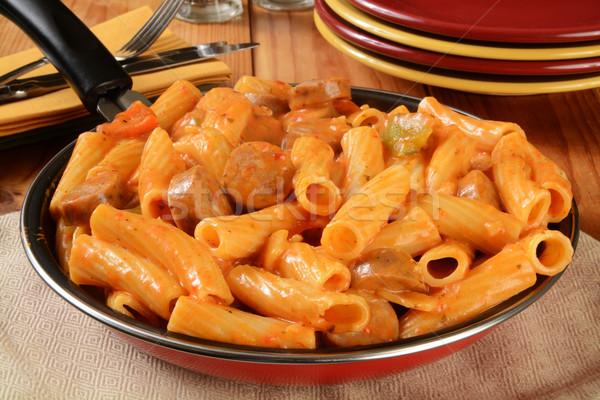 Sausage rigatoni Stock photo © MSPhotographic