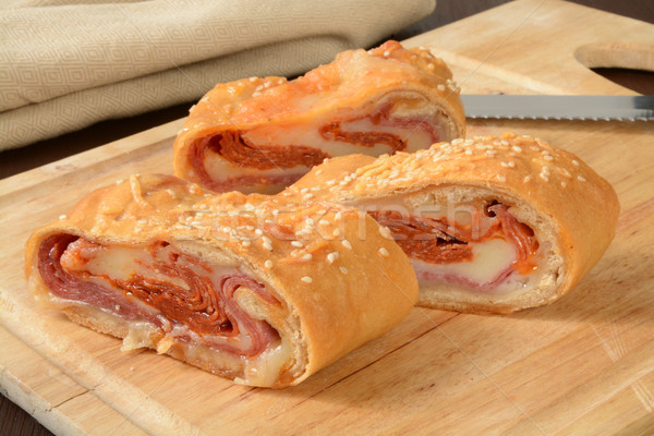 Italian bread roll sandwich Stock photo © MSPhotographic