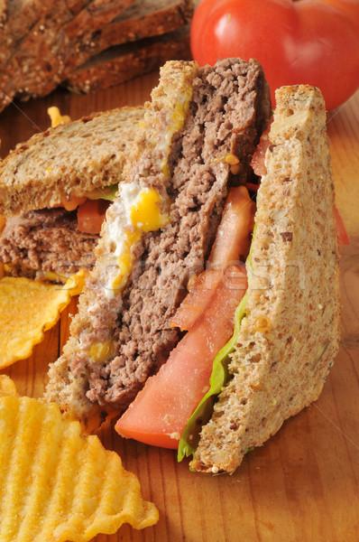 Hamburger sandwich Stock photo © MSPhotographic