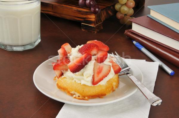 Stock photo: Strawberry shortcake after school
