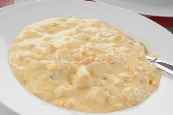 Bowl of corn chowder Stock photo © MSPhotographic