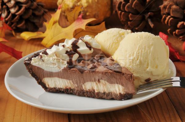 Chocolate cream pie Stock photo © MSPhotographic