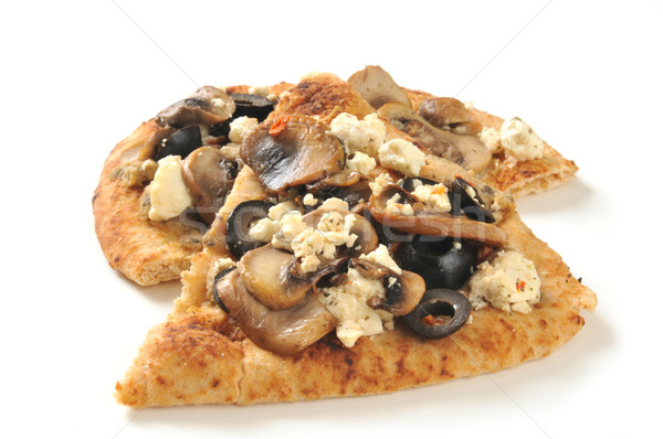 Naan bread with toppings Stock photo © MSPhotographic