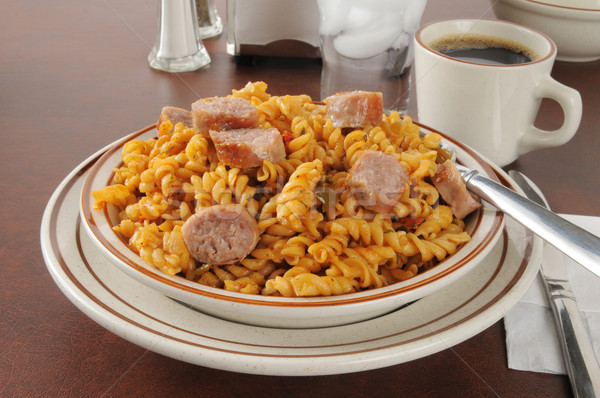 Stock photo: Sausage pasta jambalaya