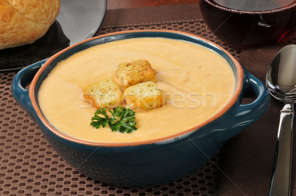 Bowl of lobster bisque Stock photo © MSPhotographic