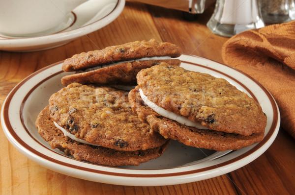 Oatmeal raisin sandwich cookies Stock photo © MSPhotographic