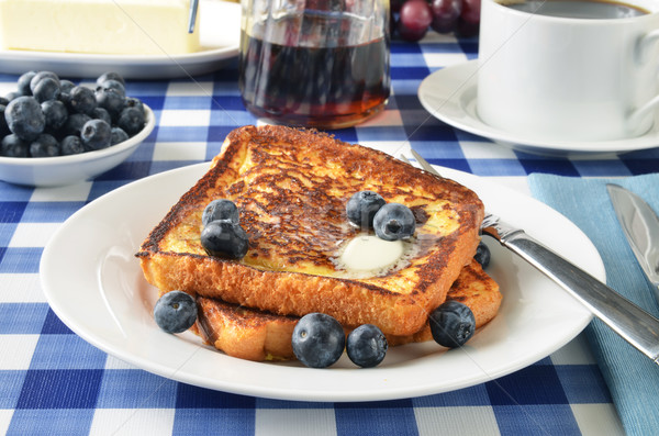 French toast with blueberries Stock photo © MSPhotographic