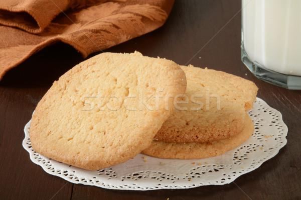 Sugar cookies and milk Stock photo © MSPhotographic