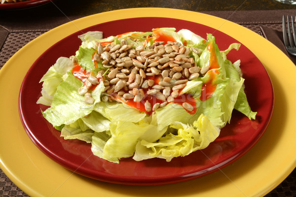 Salad with sunflower seeds Stock photo © MSPhotographic