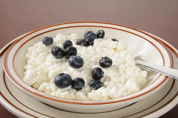 творог черника чаши продовольствие фрукты здорового Сток-фото © MSPhotographic