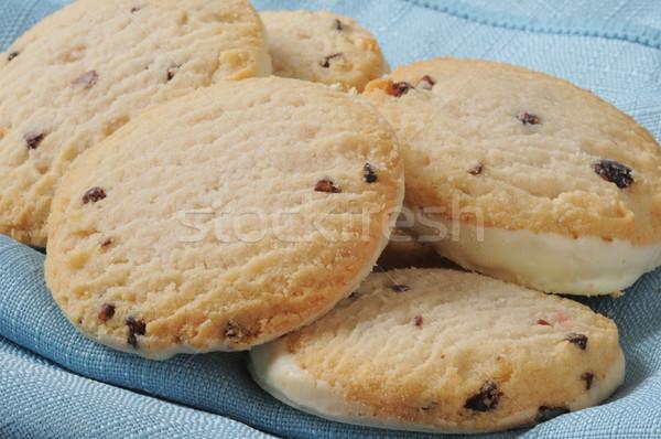 Gurmé sütik közelkép málna Stock fotó © MSPhotographic