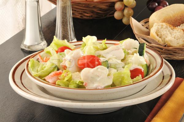 Bowl of crab salad Stock photo © MSPhotographic