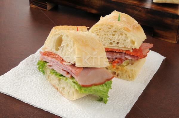 Italian cold cuts sandwich Stock photo © MSPhotographic
