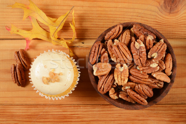 Pecan pie cupcake Stock photo © MSPhotographic