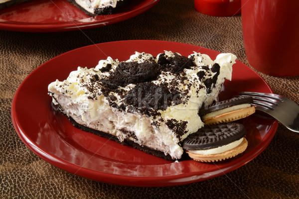Cookies and cream pie Stock photo © MSPhotographic
