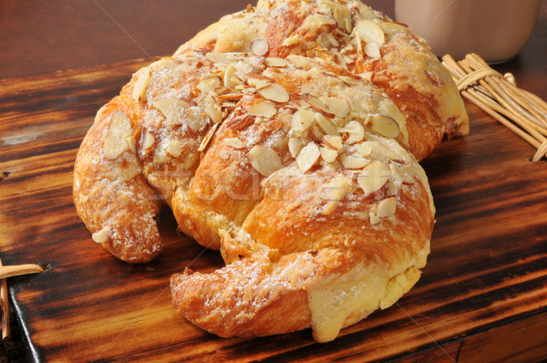 Almond croissants with custard filling Stock photo © MSPhotographic