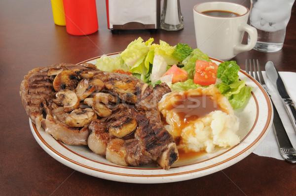 Stock photo: Steak dinner