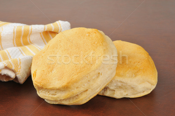Fresh baked buttermilk biscuits Stock photo © MSPhotographic