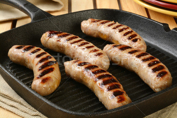 Grilled sausages Stock photo © MSPhotographic