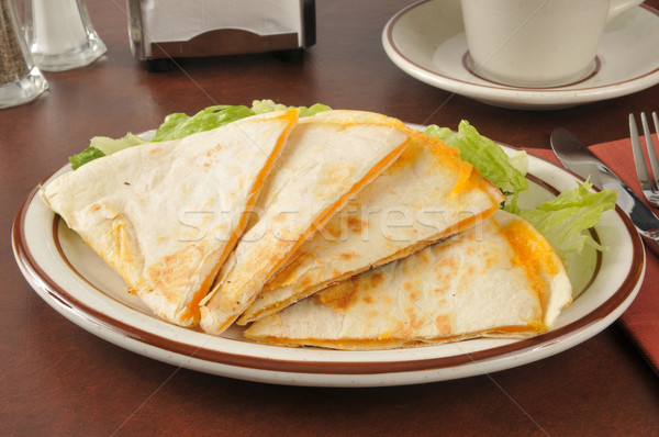 Cheddar cheese quesadillas Stock photo © MSPhotographic