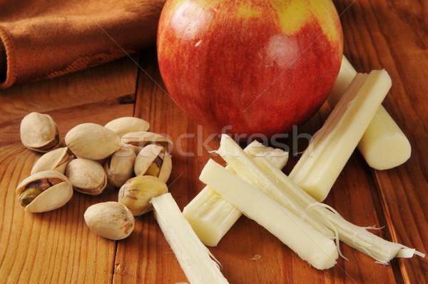 Photo stock: Saine · casse-croûte · alimentaire · pistache · noix · pomme