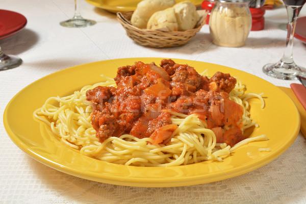 Spaghetti dinner Stock photo © MSPhotographic