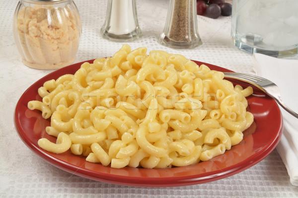 Macaroni plaat elleboog boter pasta Stockfoto © MSPhotographic