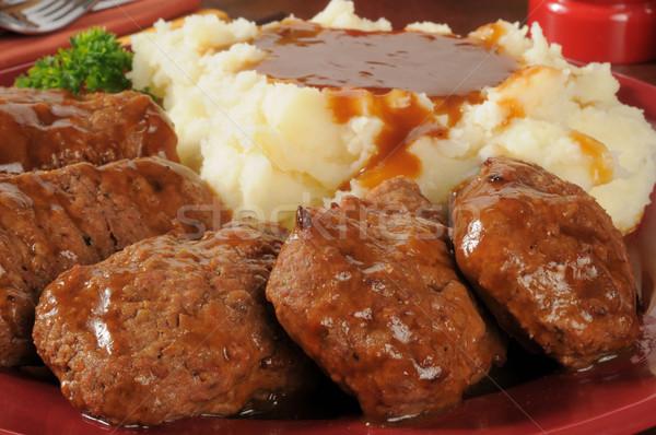 картофель соус служивший семьи стиль Сток-фото © MSPhotographic