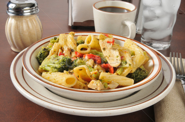 White meat chicken with rigatoni Stock photo © MSPhotographic