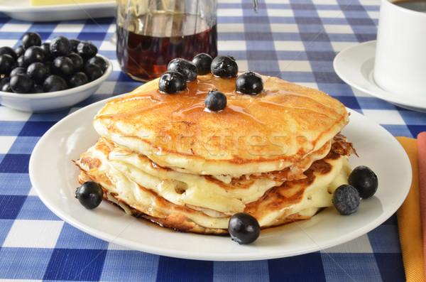 Blueberry pancakes Stock photo © MSPhotographic