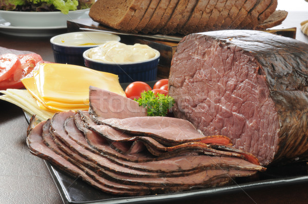 Roast beef Stock photo © MSPhotographic
