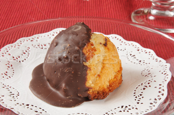 Coconut macaroon closeup Stock photo © MSPhotographic